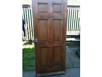 Exterior hardwood door with no glass