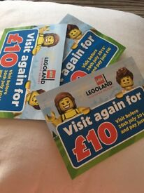 3x £10 entry tickets to Legoland