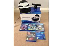 Playstation vr with Camera and 4 Games