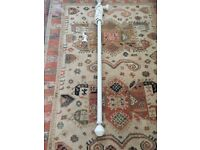 John Lewis Scratched White Wood Curtain Poles