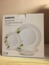 Dinner set 12 pce -Brand new never used