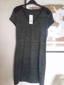Green Casual day dress . Miss Selfridge size 10