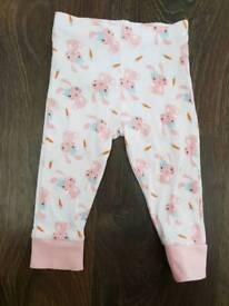 M&S girls leggings 9-12m