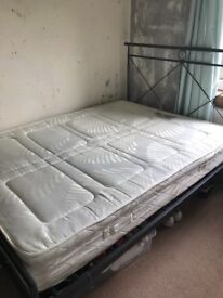 Double Bed Frame with mattress