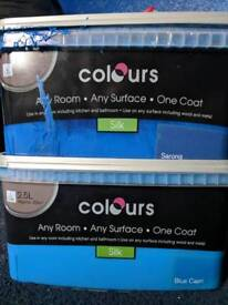 2 tubs of paint