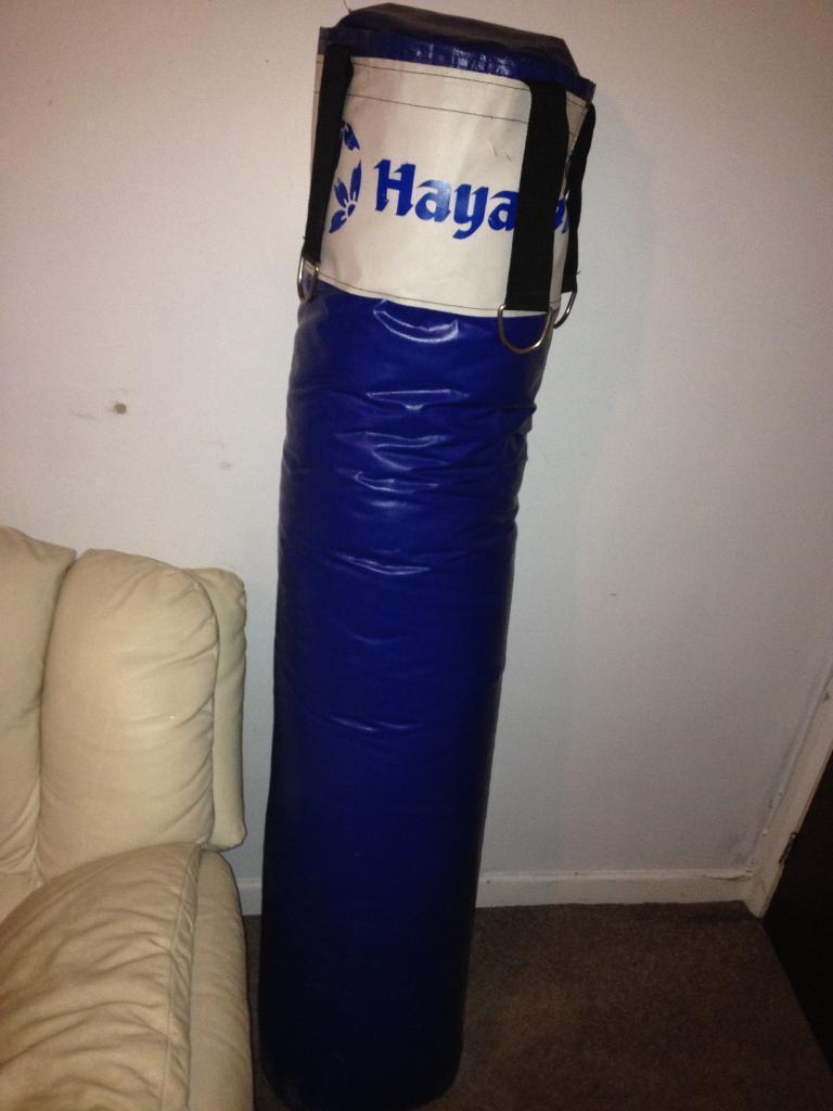 Full Size Blue Kickboxing Punch Bag