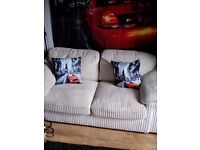 Immaculate cream 2 seater sofa with metal pull out bed (£60 or swap for double bed & mattress