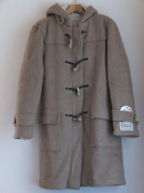 Gents Camel coloured traditional Duffle Coat