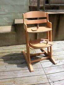 Baby Dan Wooden Highchair- Baby , Toddler High Chair