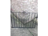 Wrought iron gates in black for sale