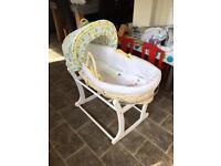 Mothercare Moses Basket & Stand (Good as new)