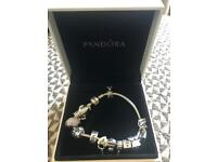 Pandora bracelet and 13 charms