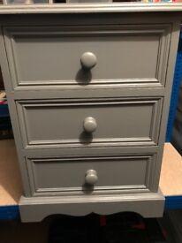 Solid Pine (Grey) bedside cabinet