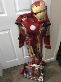 Ironman costume with noise/flashing hands and mask