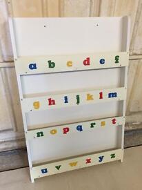 Tidy Books ABC Bookcase, White