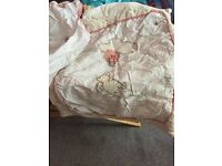 Classic Winnie the Pooh Moses basket with stand