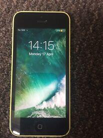 iPhone 5c yellow o2