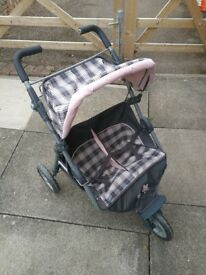 Child's Silver Cross Double Buggy