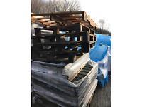 8 stacks of broken pallets. Various sizes. Free