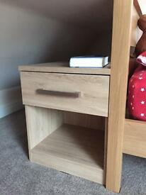 Next light oak bedside table