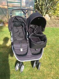Britax agile b double pushchair with carrycot