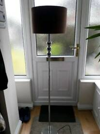 Lamp - brown faux suede standing lamp