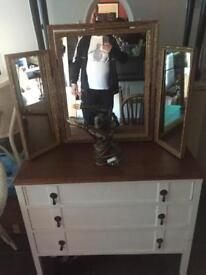 Old dresser and mirror
