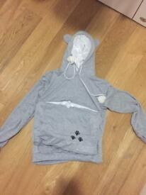 Cat hoodie with pouch - size M