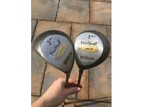 Wilson Pro staff left handed golf clubs