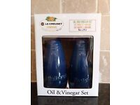 Le Crueset Stoneware Blue Oil & Vinegar Set