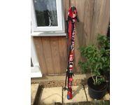 Salomon skis with poles good condition