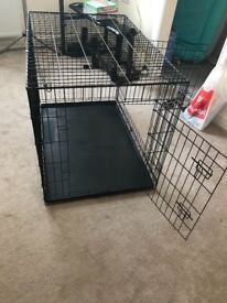 Extra large dog crate double door