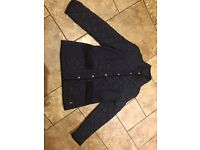 Joules Moredale Quilted Jacket - size 12 - navy
