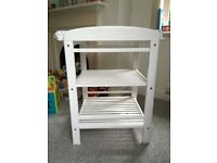 White wooden John Lewis changing table for sale - Great Shelford