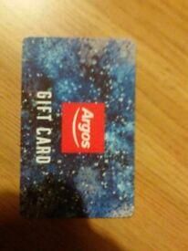 Argos gift voucher £100. £75....