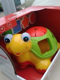 Turtle Shape Sorter Toy New Pull along for 12 months plus