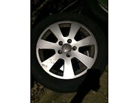 """4 16"""" Audi A3 alloy wheels and tires"""