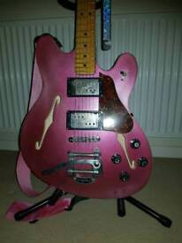 Fender Starcaster - refin, relic, bigsby