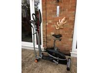 V-fit MCCT1 2-in1 exercise bike / cross trainer