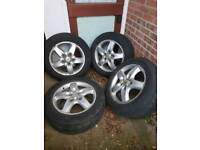 """Four 18"""" Alloys wheels and tyres 5x130 stud pattern"""