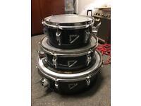 Remo legero acousticon r black drum toms shells