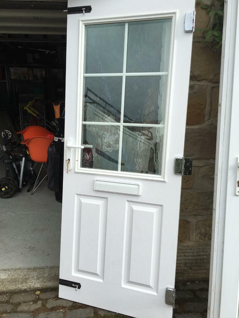 Composite door with frame