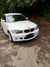 White BMW 1-Series m sport