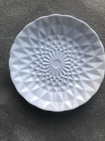 White Next Immaculate Fruit Bowl/Decor Plate