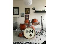 Drum Kit - Mapex M Series Orange - Hardware, Shells and DW 4000 Kick Pedal