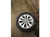 2 BMW alloys and tyres