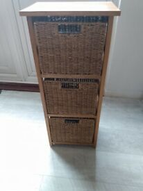 Wood and Wicker Drawers