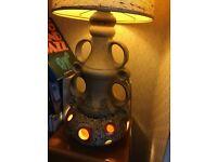 Vintage retro 1970's ceramic lava lamp