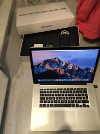 "Apple MacBook Pro 15"" retina intel core i7, 256 gb SSD, 16 gb ramm! Bargain RRP 1500£"