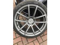 BMW 5x120 concave style staggered alloy wheels 19""